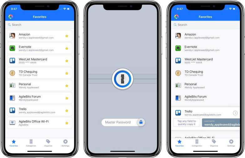 1password aplicatii iphone