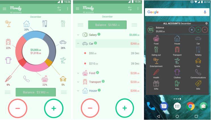 Monefy - aplicatii iphone