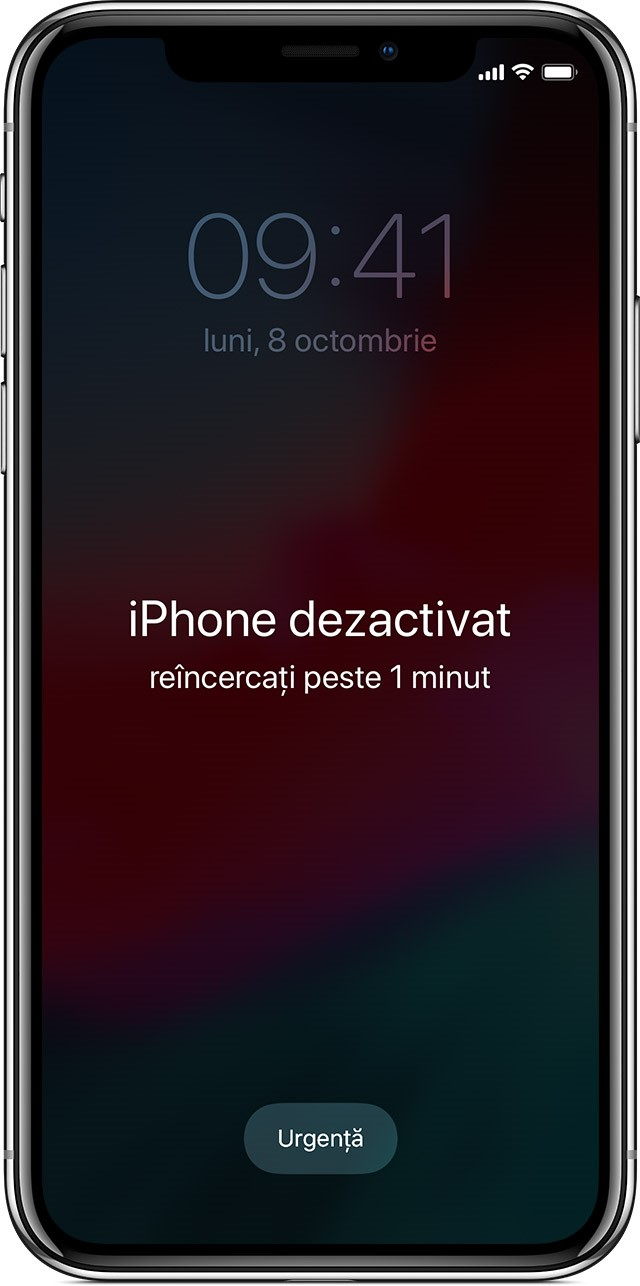 iphone dezactivat conectare la itunes